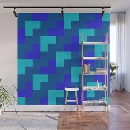 Blue Zig Zags Wall Mural
