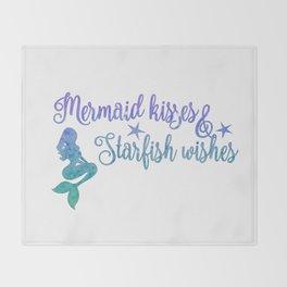 Mermaid Kisses Starfish Wishes Throw Blanket