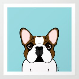Frenchie - Fawn Pied Art Print