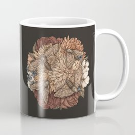 Flowers and Moths Coffee Mug