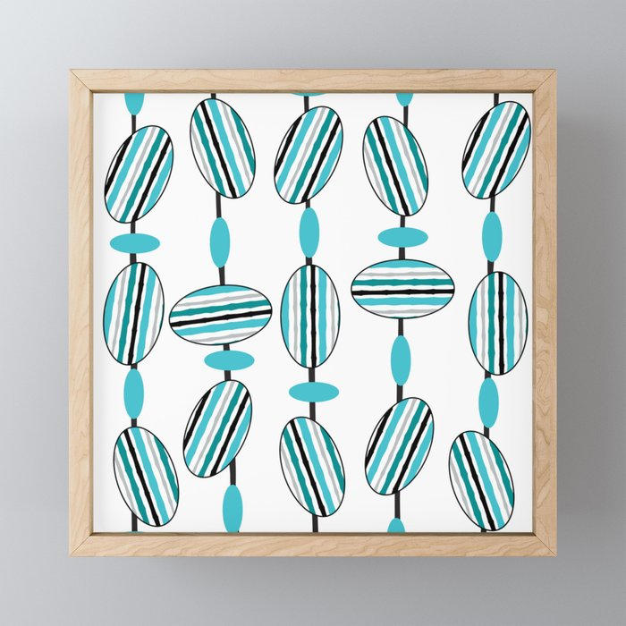 Jib Street Beads Framed Mini Art Print