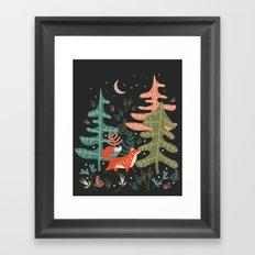 Evergreen Fox Tale Framed Art Print