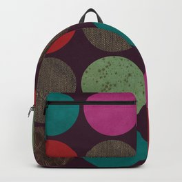leather dots on dark purple Backpack