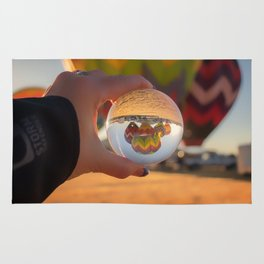 A Clearer View refraction photgraphy hot air balloons Rug