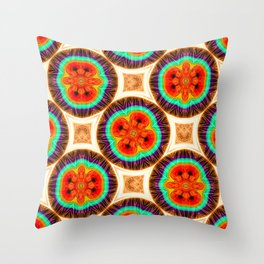 Geometric pattern with repetitive. Abstract circular shapes. Throw Pillow