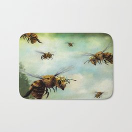 Crown of Bees Bath Mat