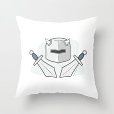 Exile From Ullathorpe - Helmet and Swords Throw Pillow