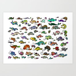 shrimp shrimp shrimp (color) Art Print