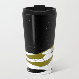 Under the coconut tree. Metal Travel Mug