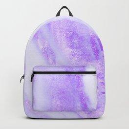 Shimmery Violet Purple Marble Metallic Backpack