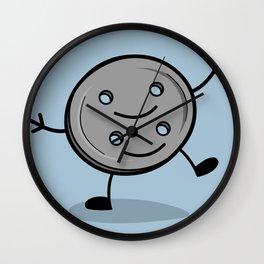 Siamese Twin Button Wall Clock