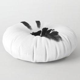 Peace — portrait and white Floor Pillow