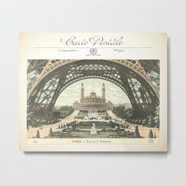Paris Postcard #2 by Murray Bolesta Metal Print
