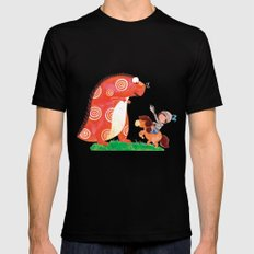 Knight vs Monster Mens Fitted Tee SMALL Black