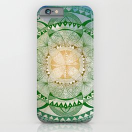 Metta Mandala, Loving Kindness Meditation iPhone Case