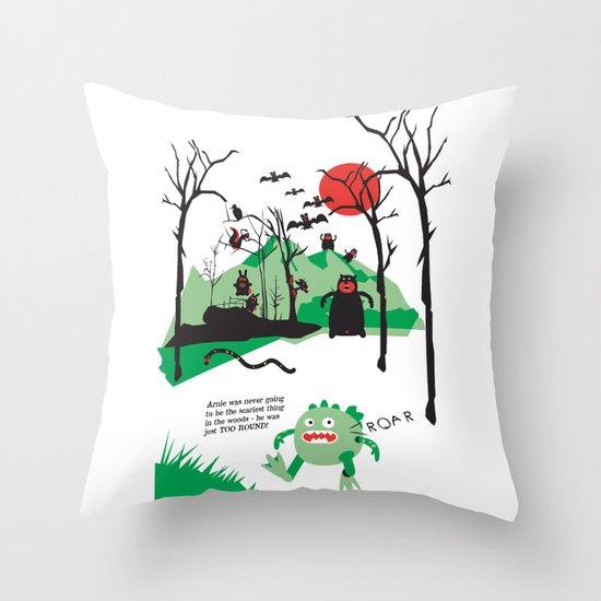 Arnie was just too round... Throw Pillow