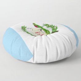 Guatemala flag emblem Floor Pillow