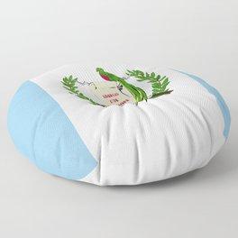Guatemala flag emblem Floor Pillow