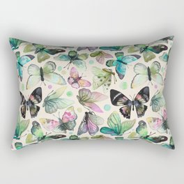 watercolor butterflies Rectangular Pillow