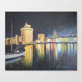 Landscape night venecia Canvas Print