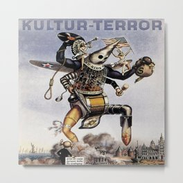 Vintage poster - Kultur-Terror Metal Print