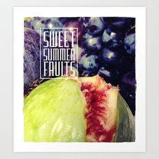Figs and grapes (Sweet summer fruits) Art Print
