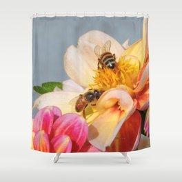 Honeybees at Work Shower Curtain