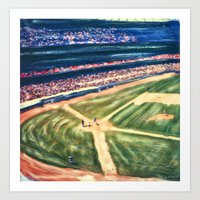 dodgers Art Prints featuring PLAY BALL by Gary Solomon