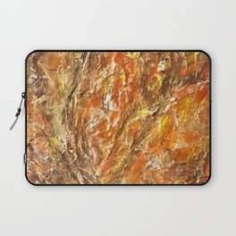 Textured Acrylic Painting By Annette Forlenza Laptop Sleeve