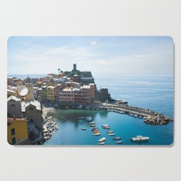 Cinque Terre, Vernazza Village | Mediterranean Coast, Italy | Pastel colorful travel photography in Europe | Art Print Cutting Board