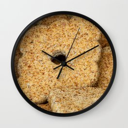 Homemade biscuits in aluminum paper bag, food photography Wall Clock