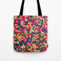 gumball Tote Bags featuring Gumball Pop by WayfarerPrints