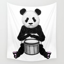 Panda Drummer Wall Tapestry