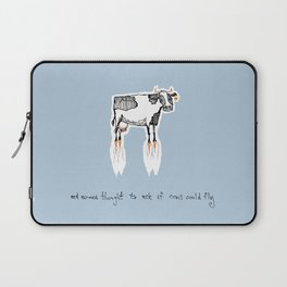 and no-one thought to ask if cows could fly Laptop Sleeve