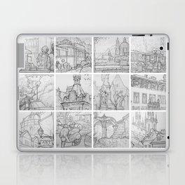 Prague sketches by David A Sutton. 18 piece horizontal. sketchbookexplorer.com Laptop & iPad Skin
