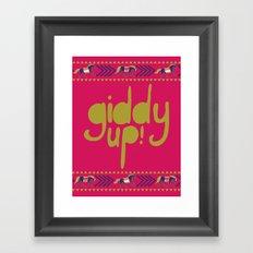 Giddy Up Framed Art Print
