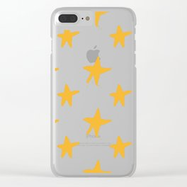 yellow star Clear iPhone Case