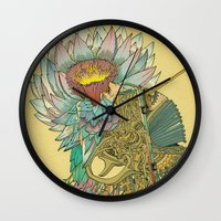 writer Wall Clocks featuring The Writer by Theo Szczepanski
