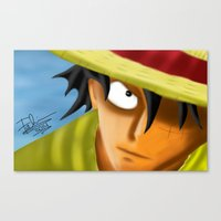 one piece Canvas Prints featuring one piece by ItsFahmi