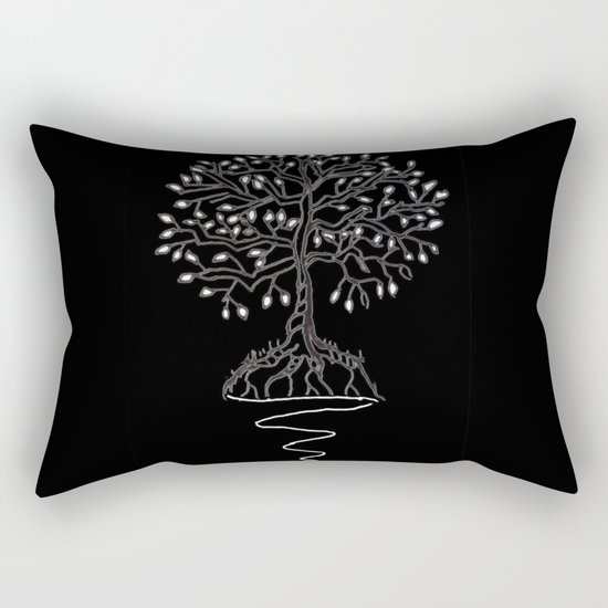 Tree of Life Light Rectangular Pillow