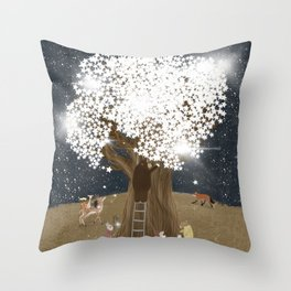 the starlight tree Throw Pillow