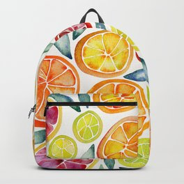 Sliced Citrus Watercolor Backpack