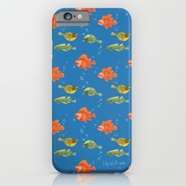 Just Some Pacific Fish Pattern iPhone Case