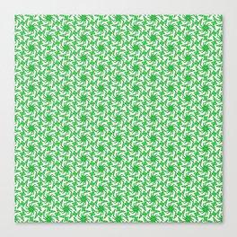 Granny Apple Green Mint Green Lime Green Country Pinwheel Pattern Southwestern Design Pattern Canvas Print