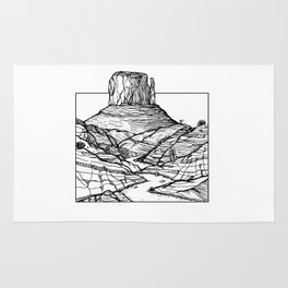 Monument Valley Hand Drawing Rug