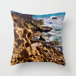 Tides of Cancún Throw Pillow