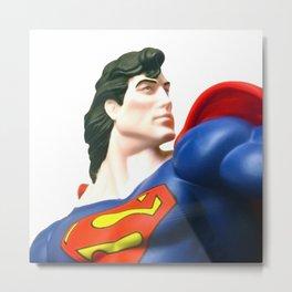 Superman figure superhero Metal Print