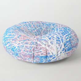 Abstract sea fan coral Floor Pillow