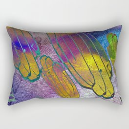 Watercolor textured pattern. Bananas. Rectangular Pillow