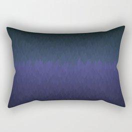 Cambridge Night: Black navy purple ombre flames Rectangular Pillow